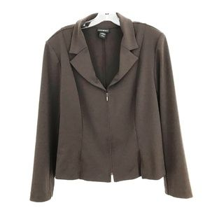 Lane Bryant zipper front blazer jacket stretch